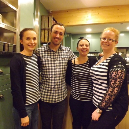 Cafe team of helpers